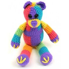 Free Pattern Caron Rainbow Bear | Hobbycraft