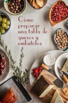 como preparar una tabla de embutidos y quesos
