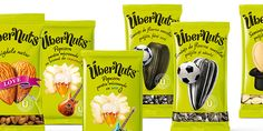 """""""The name Übernuts is using the German 'über'—which permeated both English and Romanian vernacular as a cool word for """"over, super""""—to position the brand as a self proclaimed quality standout, but in a light hearted way. The multiple meanings of 'nuts' add to the mojo of the brand, aimed primarily at the young demographic."""""""