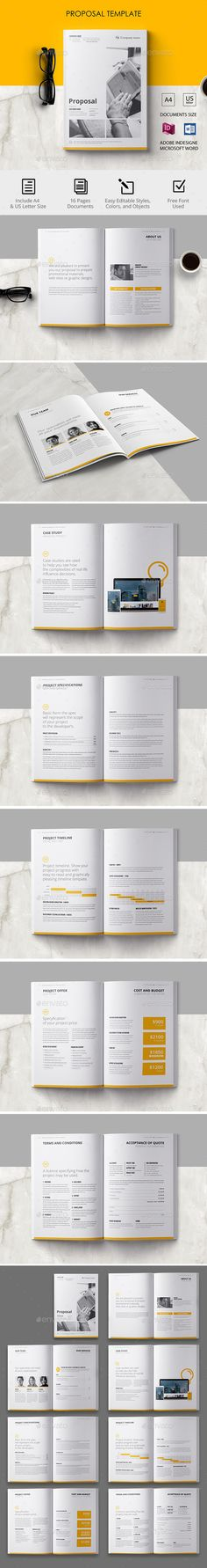 Prosposal — InDesign INDD #infographics • Download ➝ https://graphicriver.net/item/prosposal/19619342?ref=pxcr