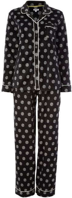 Pin for Later: You'll Want to Wear This Nightwear All Day Long DKNY Fleece dots PJ Set DKNY Fleece dots PJ Set (£49)