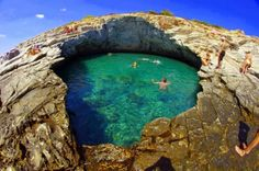 Giola The Natural Swimming Pool In Thassos Island Greece