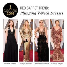 """""""Red Carpet Trend: Plunging V-Neck Dresses"""" by polyvore-editorial ❤ liked on Polyvore featuring RedCarpet, Oscars and plungingvneck"""