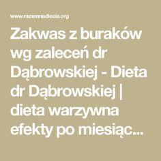 Zakwas z buraków wg zaleceń dr Dąbrowskiej - Dieta dr Dąbrowskiej | dieta warzywna efekty po miesiącu | dieta warzywno owocowa | oczyszczająca dieta Math Equations, Fitness, Diet