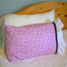 Pillowcase - Standard Pillow Cover - Pink Princess Cover - Bedroom - Hospital Pillowcase - Girls Rule - Sleeping Princess - Frilly Pillow by thebluekeystone on Etsy