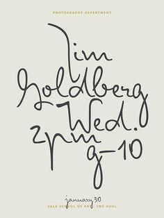 Jim Goldberg - Poster by Jessica Svendsen