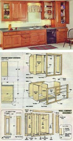 Finding Woodworking Projects and Plans for Beginners. If you are beginner and very interested in doing a DIY project for home then, woodworking can be interesting. How To Make Kitchen Cabinets, Building Kitchen Cabinets, Built In Cabinets, Diy Cabinets, Kitchen Cabinetry, Furniture Projects, Furniture Plans, Home Projects, Diy Furniture