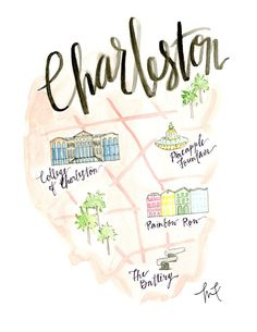 Hey, I found this really awesome Etsy listing at https://www.etsy.com/listing/228758949/charleston-map-watercolor-charleston-sc