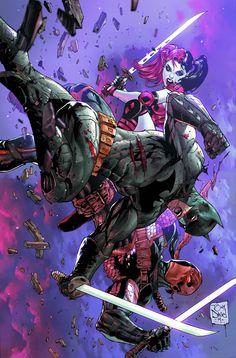 Deathstroke #5, Batman, Harley Quinn