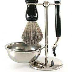 Edwin Jagger Gillette Mach 3 Imitation Ebony Shaving Gift Set