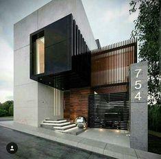 Architecture, Design, and More. Architecture Design, Modern Architecture House, Facade Design, Amazing Architecture, House Front Design, Small House Design, Modern House Design, Building Design, Building A House