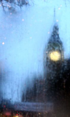 London in the rain....