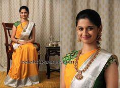 Traditional Sari by Bhargavi Kunam | Saree Blouse Patterns