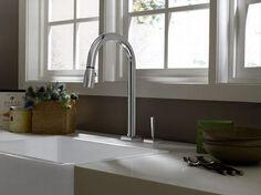 Porcher Single Handle Pull Down Kitchen Faucet