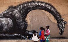 30 magnifiques œuvres de street-art animalier signées Roa
