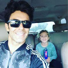 Mariano fue al trabajo con su hija Olivia
