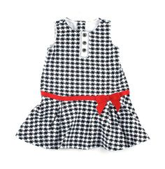Gymboree dress, black and white dress for girls, girls dress
