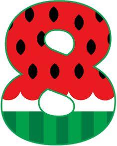 Mãe de Seis: Alfabeto Melancia Beach Theme Preschool, Alphabet And Numbers, Food Themes, Beach Themes, Watermelon, Clip Art, Superman, Lettering, Fruit