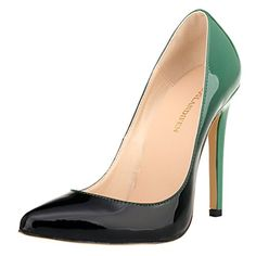 LOSLANDIFEN Women's Pionted Toe Double Color Pumps Slender Leather Stiletto High Heels Wedding Shoes(302-1shuangse38,Green)... Stiletto Heel:11cm (4.5Inches) Sole Width:8cm (3.1Inches) Main Material:Synthetic Leather For The Season: Spring, Summer, Autumn Sole Heel Type:Pointed Toe Slip On Stiletto High Heel Pumps Ideal for Clubbing,Evenings,Prom,Bridal,Bridesmaid Evening Dress US Size:5(EU35) 6(EU36) 6.5(EU37)......http://bit.ly/2iXdI5h