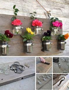 Flower vases made from jar