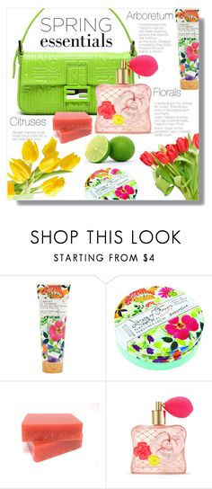"""""""In Bloom: Spring Perfume"""" by rosidew ❤ liked on Polyvore featuring beauty, Library of Flowers, Victoria's Secret and springperfume"""