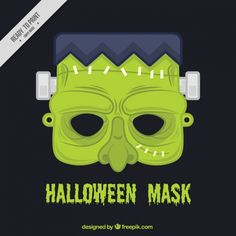 máscara de Zombie halloween Vetor grátis