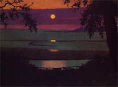 Sunset - Felix Vallotton - Completion Date: 1918 - Style: Magic Realism - Genre: Cloudscape - Technique: Oil - Material: Canvas - WikiPaintings.org