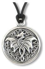 Celtic Dragon ~ Spirit Wisdom Pewter Necklace - pagan wiccan witchcraft magick ritual supplies