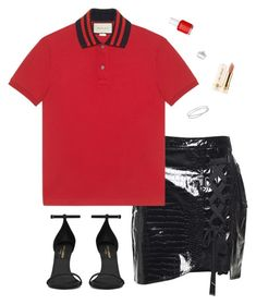 """""""#127"""" by heelsandgo on Polyvore featuring Kobelli, self-portrait, Yves Saint Laurent, Gucci, Maison Margiela, Essie and Too Faced Cosmetics"""