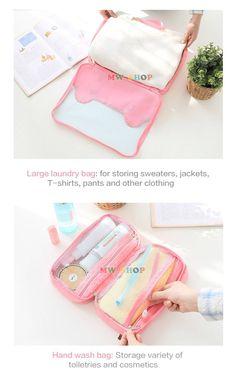 Pu Beijing South Korea cute travel travel essential toiletries bag female waterproof travel kit bag for washing bath bag | #StorageBags