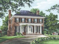 Eplans Adam - Federal House Plan - The Bristol - 3280 Square Feet and 4 Bedrooms(s) from Eplans - House Plan Code HWEPL14386