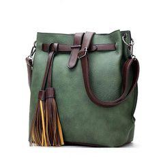 HOT SaleNew Women PU Leather Handbags for Woman Fashion Designer Black Bucket Vintage Shoulder Bags Women Messenger Bag - free shipping worldwide