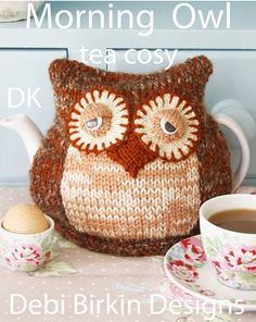 owl knitting pattern  tea cosy teacozy cozy cosies by BunnyFriends