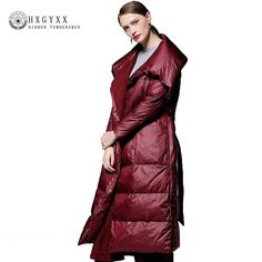 2018 New Winter Coat Women European Plus Size Clothes Loose Lapel Long Down Jacket Female Elegant Wine Red Parka >> Click picture for details << Red Parka, Winter Coats Women, Jackets For Women, Plus Size, Wine, Female, Elegant, Clothes, Dresses