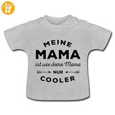 Coole Mama Lustiger Spruch Muttertag Baby T-Shirt von Spreadshirt®, 18-24 Monate, Grau meliert - Shirts mit spruch (*Partner-Link)