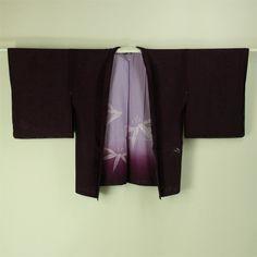 Purple see through haori / 透ける笹竹柄絽袷夏物