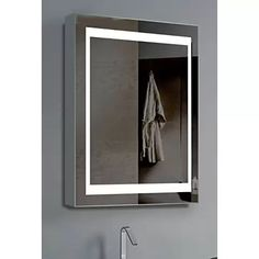 amazoncom medicine cabinet light lighted vanity mirrors bathroom mirrors home