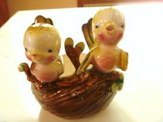 Vintage Baby Birds Planter by AuntyNellsCloset on Etsy, $18.00