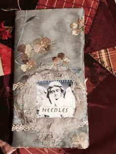 Needle book, needle case, Shabby Chic Angel