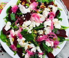 Sallad med rödbetor & chevreost | Fridas Food