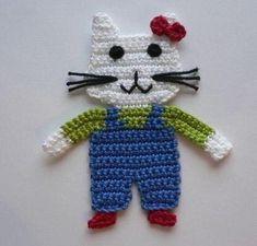 Granny Square Häkelanleitung, Granny Square Crochet Pattern, Crochet Diagram, Crochet Motif, Crochet Designs, Crochet Flowers, Crochet Stitches, Crochet Applique Patterns Free, Hand Applique