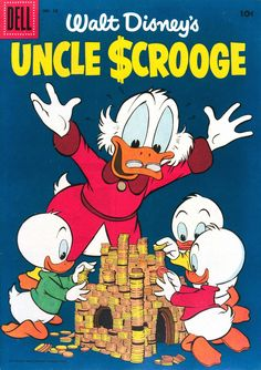 """gameraboy: """"Uncle Scrooge #13 (1956) cover by Carl Barks """""""