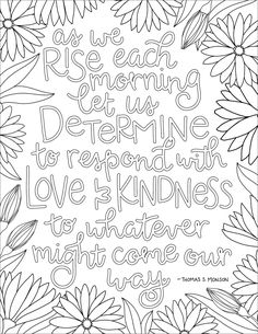 coloring pages - just what i squeeze in Respond with Love & Kindness free LDS Christian coloring page