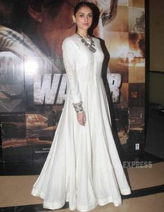 Jacqueline is all about the colour while Aditi Rao Hydari opts for white White Anarkali, Anarkali Dress, Lehenga, Sabyasachi, Indian Gowns, Indian Attire, Indian Wear, Pakistani Outfits, Indian Outfits