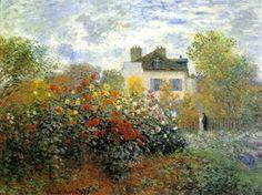 Claude Oscar Monet - The Garden At Argenteuil Aka The Dahlias