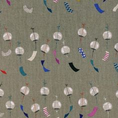 Japanese inspired cotton linen - only $9.80 a yard
