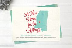 Moving Announcement Christmas Cards Heartland by felicitypaper Going Away Cards, Holiday Cards, Christmas Cards, Christmas 2017, Change Of Address Cards, New Address Announcement, Moving Announcements, Very Merry Christmas, Time To Celebrate