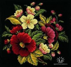 Counted Cross Stitch Kits, Cross Stitch Flowers, Cross Stitch Designs, Amazing Flowers, Close Image, Needlework, Pattern, Arrow Keys, Painting