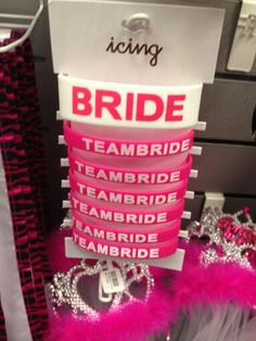 Team Bride bachelorette party accessories!  Don't forget personalized napkins for your bridal and bachelorette party! #bridal #shower #bachelorette www.napkinspersonalized.com