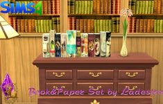 Ladesire Creative Corner: Book&Paper Set • Sims 4 Downloads